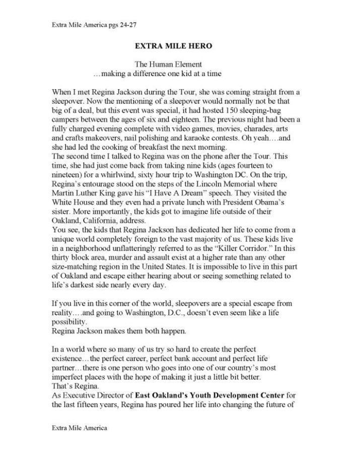 Extra Mile Hero Page 1