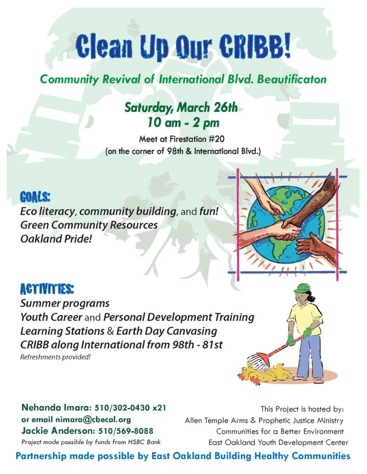 Clean up our cribb! community revival of international blvd.