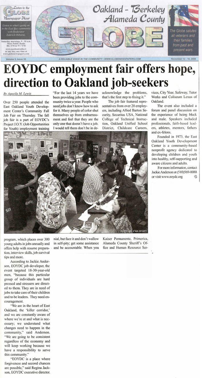 Globe Article: Job Fair