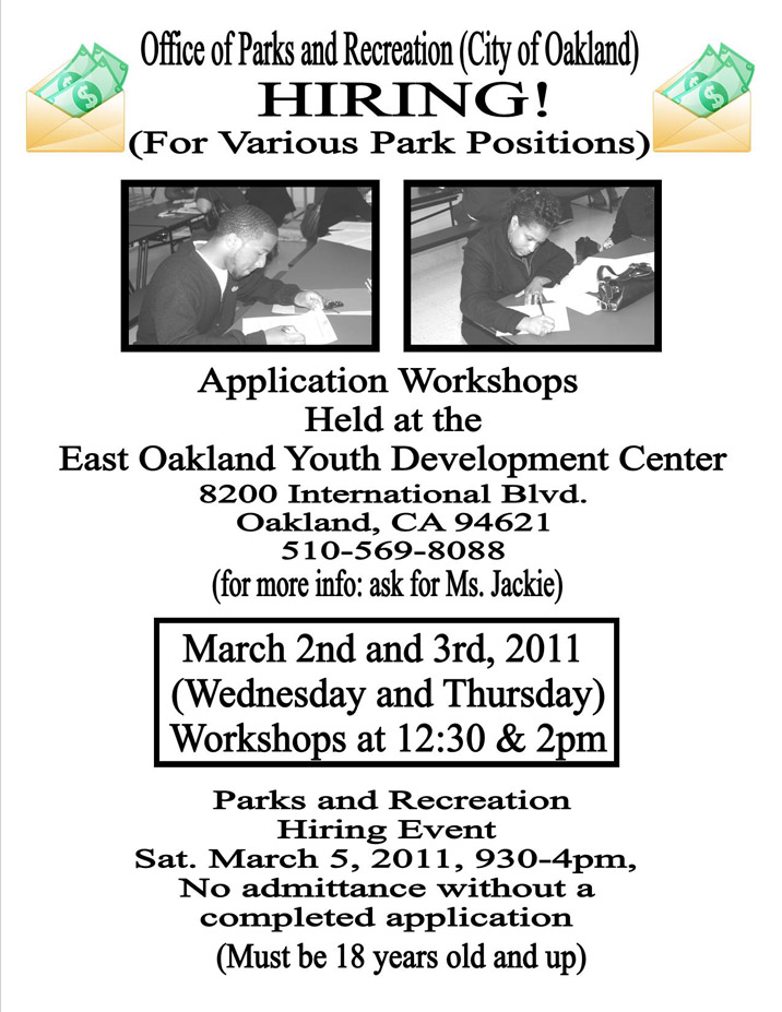 Oakland Parks and Recreation Application Workshop