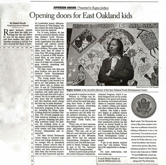 Opening Doors for East Oakland Kids: Regina Jackson