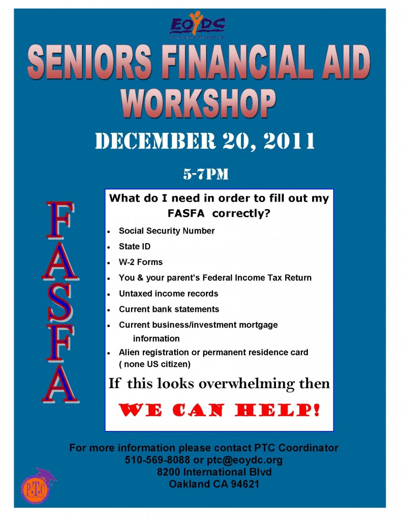 Senior Financial Aid Workshop