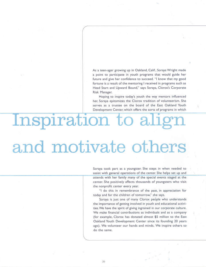 Inspiration to align and motivate others