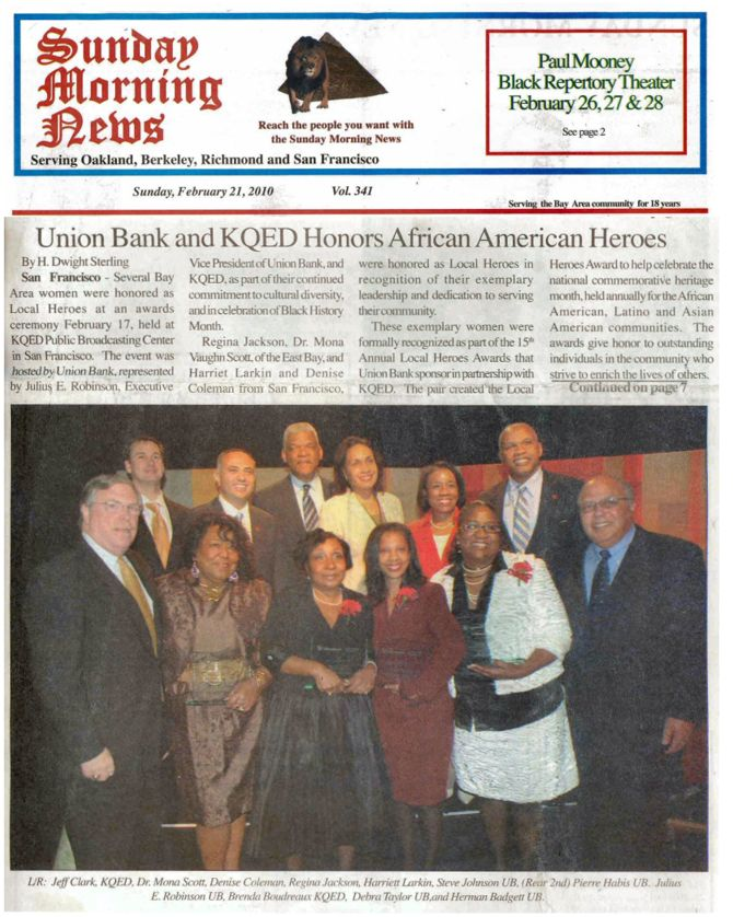 Union Bank and KQED Honor African American Heroes