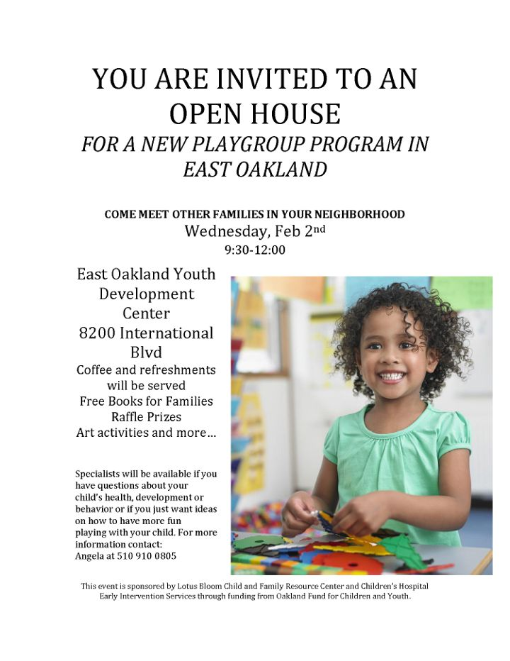 Openhouse for a new Playgroup